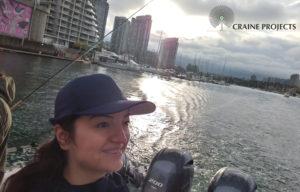 Negar on Boat