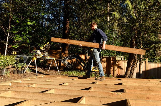 landscape carpentry deck construction